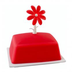 Vialli Design Maselniczka Livio kwiat, czerwona