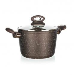 Banquet Garnek GRANITE, brązowy, Ø 20 cm, 3,75 l