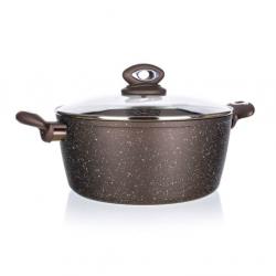 Banquet Garnek GRANITE, brązowy, Ø 24 cm, 5,7 l