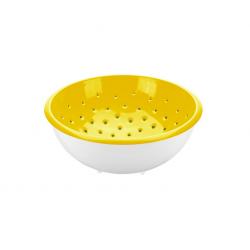 Tescoma Cedzak z miską VITAMINO żółty 2 l, Ø 20 cm