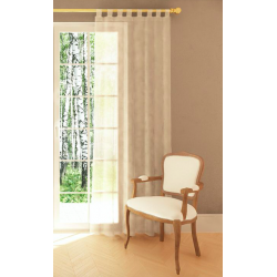 Uniglob Firana Diana, ecru , 140 x 245 cm +/- 3 cm, woal gładki z szelkami