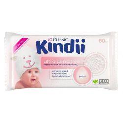 Kindii Cleanic Chusteczki Ultra Sensitive, 60 szt.