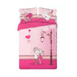 FARO Komplet pościeli Walentynkowej, 160 x 200 cm, 100% bawełna
