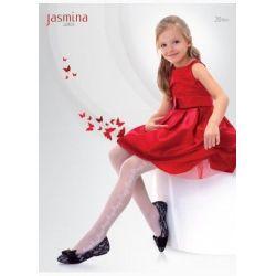 Knittex Rajstopy Jasmina 122-128 białe, 20 den
