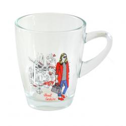 Tadar Kubek szklany Street Fashion GIRL, 310 ml