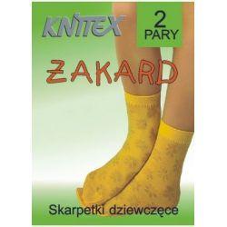 Knittex Skarpetki żakardowe, 2 pary, 18-22, żółte