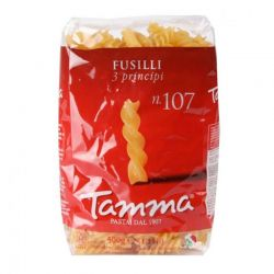 Tamma Makaron Fusilli 3 principi nr 107, 500 g