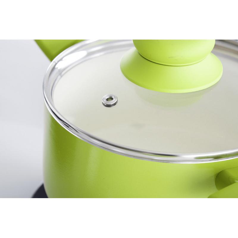 Ambition Garnek Z Powłoką Ceramiczną Fusion Fresh 16 Cm 125 L Zielony