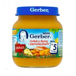 Gerber Obiadek indyk z dynią i ziemniaczkami 5m+, 125g