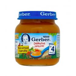 Gerber Obiadek delikatne jarzynki 4m+ 125g