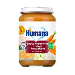 Humana 100% Organic zupka warzywna z ryżem i kurczakiem 8m+, 190 g