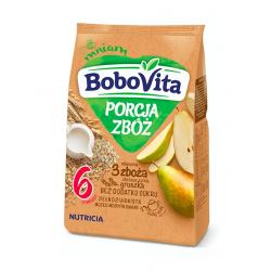 BoboVita Kaszka mleczna 3 zboża zbożowo-żytnia gruszka 6m+, 210g