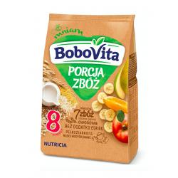 BoboVita 7 zbóż Kaszka mleczna zbożowo-jaglana owocowa 8m+, 210g