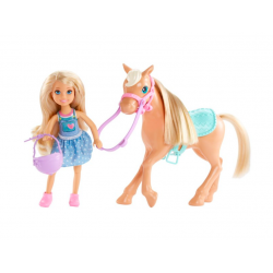 Barbie Lalka Chelsea z kucykiem DYL42