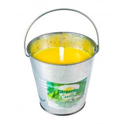 Świeca zapachowa w wiaderku, cytryna