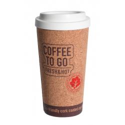 Kubek korkowy na kawę z pokrywką 500 ml