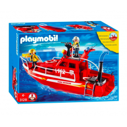 Playmobil® City Action Łódź strażacka z armatką wodną 3128