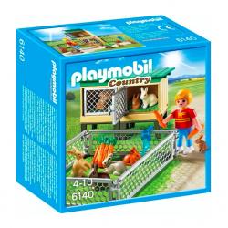 Playmobil® Country Klatka dla królików z wolnym wybiegiem 6140