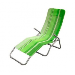 Happy Green Leżak plażowy, jasnozielony