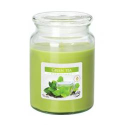 Bispol Świeca zapachowa w szkle Zielona herbata SND99-83