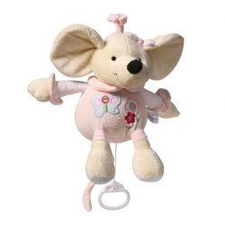 Zabawka z pozytywką welurowa myszka BabyOno