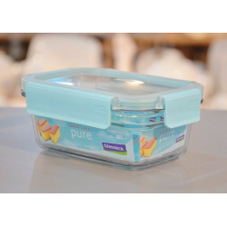 Pojemnik hermetyczny, szklany Glasslock Pure 485 ml, błękitny