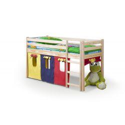 NEO - łóżko piętrowe z materacem - sosna (4p 1szt)