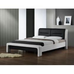CASSANDRA 160 cm łóżko biało-czarny (3p 1szt)