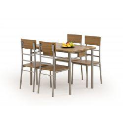NATAN zestaw stół + 4 krzesła (1kpl 1paczka)