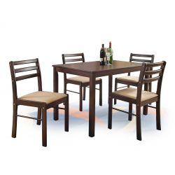 NEW STARTER zestaw stół + 4 krzesła espresso