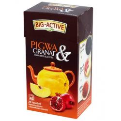 Czarna herbata pigwa i granat 20 torebek Big Active