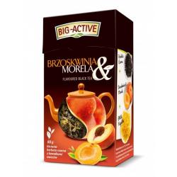 Czarna herbata brzoskwinia i morela 80 g liściasta Big Active