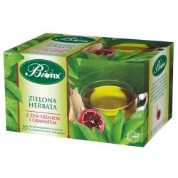 Zielona herbata z żeń-szeniem i granatem 20 torebek BiFIX