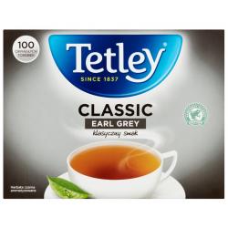 Herbata czarna aromatyzowana Earl Grey Classic 100 torebek Tetley