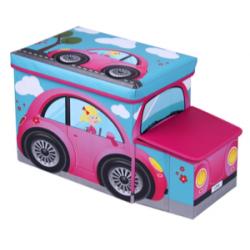 Pufa Auto Car Różowy 96915