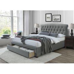 AVANTI łóżko 160 cm z szufladami popiel (3p 1szt)