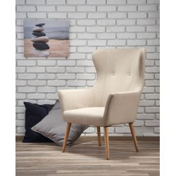 COTTO fotel wypoczynkowy beżowy Halmar