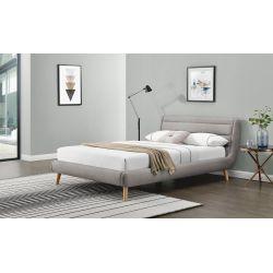 ELANDA 160cm łóżko jasny popiel Halmar