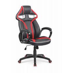 HONOR fotel gabinetowy czarno-czerwony