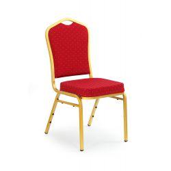 K66 krzesło bordowy, stelaż złoty (1p 1szt)
