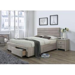 KAYLEON łóżko z szufladami beżowy (6p 1szt)