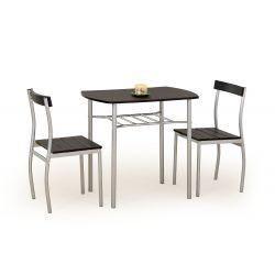 LANCE zestaw stół + 2 krzesła wenge