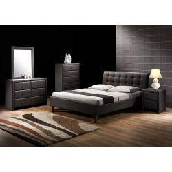 SAMARA łóżko czarny (2p 1szt.)