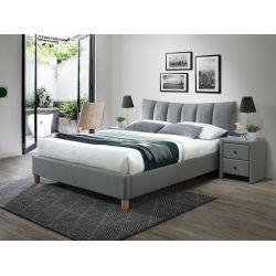 SANDY 2 łóżko tapicerowane tkanina popiel (2p 1szt)