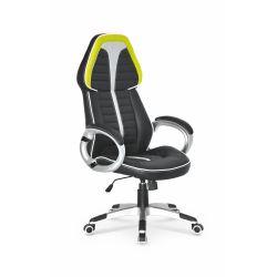 SIGNET fotel gabinetowy czarny / popiel / limonkowy