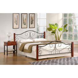 VIOLETTA 120 cm łóżko czereśnia ant./czarny (3p 1szt) ze stelażem