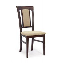 KONRAD krzesło ciemny orzech / tap: Torent Beige (1p 2szt)