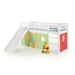 NEO PLUS - łóżko piętrowe ze zjeżdżalnią i materacem - biały ( 4p 1szt )