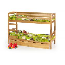 SAM - łóżko piętrowe z materacami - olcha ( 6p 1szt )