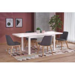 TIAGO 2 stół rozkładany 140-220/80 blat: biały, nogi: biały Halmar